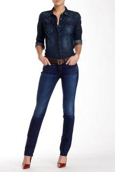 Kimmie Straight Leg Jean by 7 For All Mankind on @nordstrom_rack Sponsored by Nordstrom Rack.
