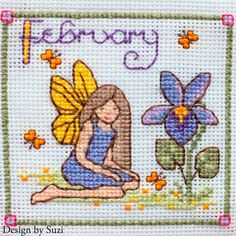 Lesley Teare - Birthday Fairies (Calendar 2015) - February