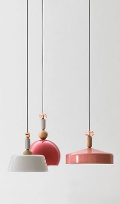 Gorgeous suspension lamps in pink and white - An illuminated selection by Boca do Lobo of some of the best lamps, chandeliers and lighting fixtures found on pinterest