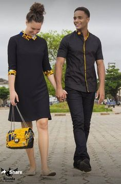 African couple's clothing, African couple's wears, African attire, Ankara dress, Plain & patterned d Couples African Outfits, Couple Outfits, African Attire, African Wear, African Women, African Shirts, African Print Dresses, African Fashion Dresses, African Dress