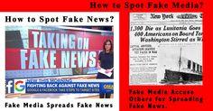 Fake media publish fake news blaming other for publishing fake news.