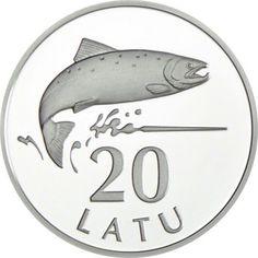 20 Lats Silber 20 Jahre Wiedereinführung des Lats PP