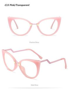 bfb748dfdd73 Boyeda Women Cat Eye Eyeglasses Frame Optical Glasse Frame Retro Eyeglasses  Computer Glasses Transparent 97320