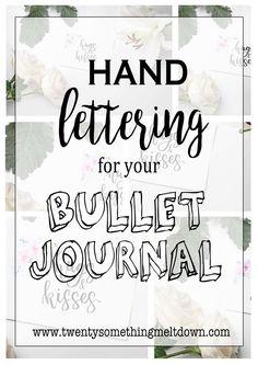 Hand Lettering For Your Bullet Journal.