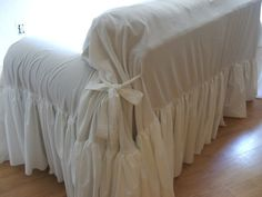 Slipcover/ruffled slipcover /white slipcover/shabby decor/cottage decor/ slipcover throw Excited to share this item from my shop: shabby chic sofa slipcover,throw