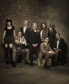 Still of Mark Harmon, Pauley Perrette, Rocky Carroll, Michael Weatherly, Brian Dietzen and Cote de Pablo in NCIS. My favorite show