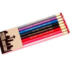 GREY'S ANATOMY inspired pencil set - imprinted pencils - engraved pencils