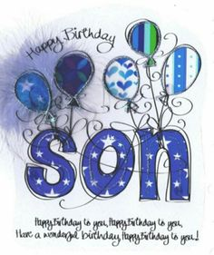 happy birthday to grown son birthday wishes for son birthday rh pinterest com happy birthday son free clip art Happy Birthday Adult Son