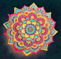 93   DeAnna Sampson Easy Rangoli Designs Diwali, Rangoli Designs Latest, Colorful Rangoli Designs, Beautiful Rangoli Designs, Kolam Designs, Simple Rangoli, Alice In Wonderland Cross Stitch, 1970s Art, Festival Rangoli