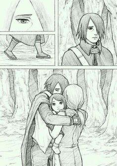 #cute #sweet #couple #sasuke #sakura #sarada #married #love #lovely