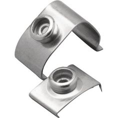 Taylor Stainless Steel Top-Lok for Heavy 1 inch Round Trim, 4pk, Silver