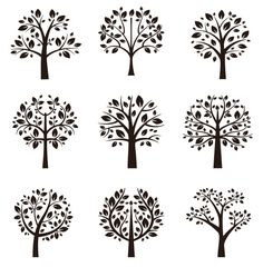 Check out Tree silhouettes by Microvector on Creative Market