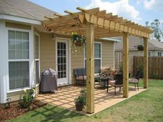 Pergola For Small Patio Code: 8857539432 Pergola Patio, Small Pergola, Pergola Canopy, Pergola Attached To House, Wooden Pergola, Pergola Shade, Small Patio, Pergola Plans, Backyard Patio