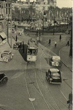 De geldersekade met op de achtergrond de oudehaven 1939