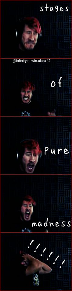 I've never personally experienced anything like this while playing a game, but Mark's pain is contagious. Pewdiepie, Markiplier Memes, Darkiplier, Jack And Mark, Funny Memes, Hilarious, Youtube Gamer, Septiplier, Best Youtubers