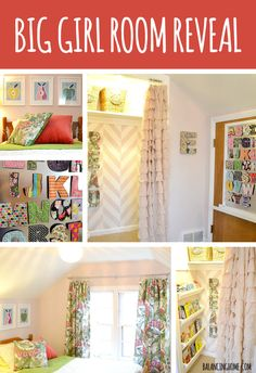 Big Girl Room Reveal- Full of simple and affordable ideas ...love the reading nook!
