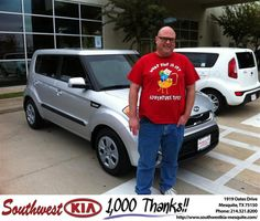 #HappyAnniversary to Stewart Allen on your 2012 #Kia #Soul from Jerry Tonubbee at Southwest Kia Mesquite!