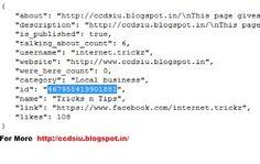 Find FACEBOOK  FAN PAGE id