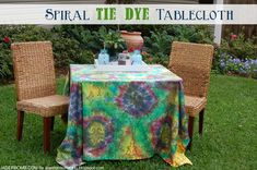 iLoveToCreate Blog: How to Make a Spiral Tie Dye Tablecloth