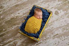Sunflower Yellow Newborn Cocoon | Beautiful Photo Props