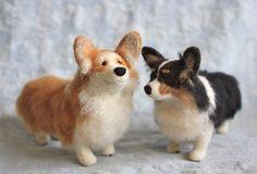 Corey and Sophie: Custom Fiber Friends Tiny needle-felted pet portraits