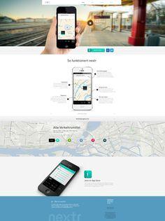 nextr app landing page by Martin Oberhäuser, via Behance Graphisches Design, Web Ui Design, Web Design Trends, Clean Design, Design Ideas, Ios, Design Thinking, App Store, Design Innovation
