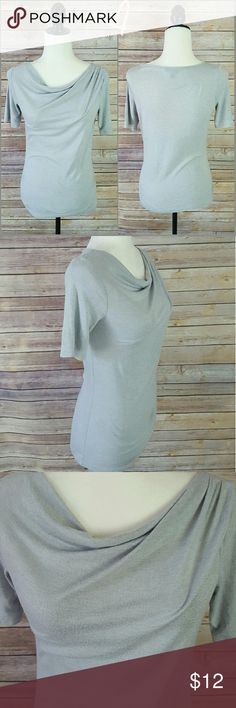 "Talbots Gray Cowl Neck Top w/ Bead Embellishments Great for any occasion!  In great condition - some minor wear on fabric, but no missing beads. Size XS (P) but runs large.  36"" Bust, 32"" Waist, 15"" Shoulder,  10"" Sleeve, and 22"" Length.   Made of 70% Rayon and 30% Polyester.   No trades accepted.  Open to reasonable offers.  Any questions, let us know! Talbots Tops Blouses"