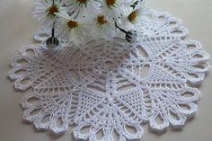 Crochet doily, Round crochet doily, Handmade doily, white doily, crochet lace doily, Crochet table decoration, wedding deccoration