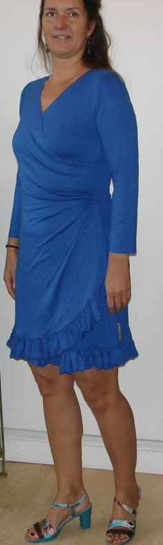 Blue and beautiful dress with lace in same material. Viscose with elastic is very comfortable for business and pleasure. Dkr. 1000,- is in S, M and L. info@husbond.dk to order or www.husbond.dk to see more.