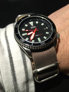 Vintage Seiko Diver Mod with Leather Relic Watches, Skagen Watches, Timex Watches, Seiko Watches, Wrist Watches, Longines Watch Men, Diesel Watches For Men, Seiko Skx, Mens Digital Watches
