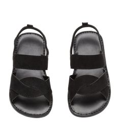 Check this out! Sandals in imitation suede. Elastic strap around back of heel with a loop. Imitation leather lining and insoles, and rubber soles. - Visit hm.com to see more.