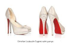Christian Louboutin Eugenie Satin Pumps.