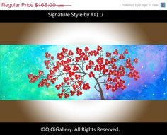 36Original Art Acrylic Painting Impasto Painting by QiQiGallery