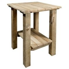 The Montana Woodworks Homestead Indoor / Outdoor End Table is a practical addition to your rustic lodge living room or patio. This handcrafted piece. Outdoor End Tables, Rustic End Tables, End Tables For Sale, Chairs For Sale, Woodworking In An Apartment, Woodworking Projects Plans, Woodworking Logo, Woodworking Patterns, Woodworking Videos