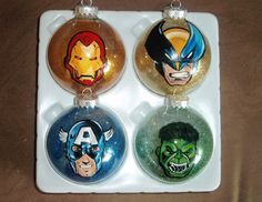 marvel comic ornaments