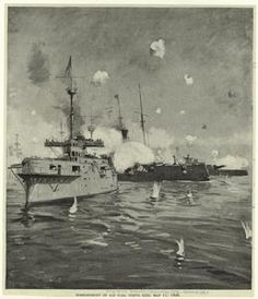 Bombardment of San Juan, Porto (i.e. Puerto) Rico, May 11, 1898.