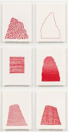 """""""Art. therapy."""" Emily Barletta (The Jealous Curator) Crocheted Works. Embroidery on Paper"""