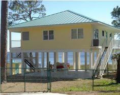 Clearview P   sq ft on piers   Beach House Plans by Beach    modern stilt beach houses   Google Search