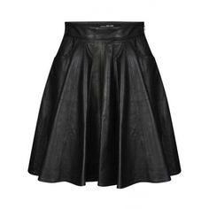 Jeremy Scott Pleated Leather Biker Skirt ($495) ❤ liked on Polyvore featuring skirts, knee length leather skirt, pleated skirt, jeremy scott, bike skirt and leather skirt