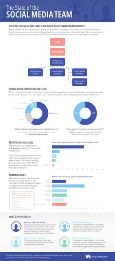 The State of the Social Marketing Team infographic