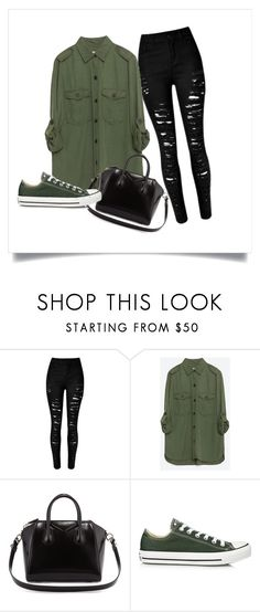 """""""Untitled #15"""" by suhfranco ❤ liked on Polyvore featuring Zara, Givenchy and Converse"""