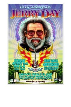 Poster from Jerry Day 2014 at Jerry Garcia Amphitheater on 8/3/14...