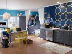 Contrastes de cores são ótimos para aprofundar espaços pequenos
