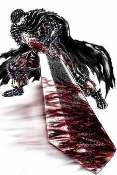 Tags: Anime, BERSERK (Kentaro Miura), Guts, Huge Weapon, Muscles, The Dragonslayer