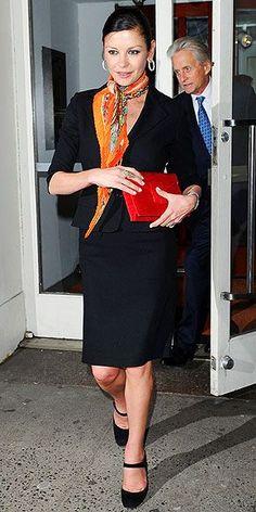 Catherine Zeta-Jones - nice business look.