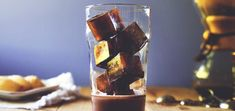 Save leftover coffee to make into ice cubes. Use coffee ice cubes to make the perfect iced mocha! Iced Mocha, Iced Coffee, Coffee Drinks, Tea Drinks, Alcoholic Drinks, Cocktails, Leftover Coffee Recipe, Coffee Ice Cubes, Easy Homemade Recipes
