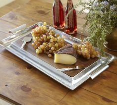 Chancellor Extra-Large Rectangular Cheese Board from Pottery Barn Wine And Cheese Party, Wine Cheese, Cheese Platters, Serving Platters, Cheese Board Display, Cheese Tasting, Easy Healthy Recipes, Dinnerware, Mango