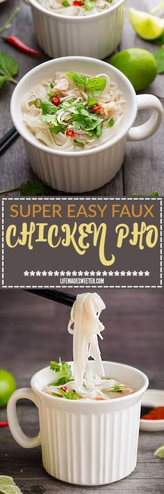 Faux Chicken Pho makes the perfect easy weeknight meal with all the favorite flavors of the classic Vietnamese noodle dish. Best of all, it comes together in as llittle as 15 minutes! Plus a step-by-step video.@corningware #MealMug #sponsored