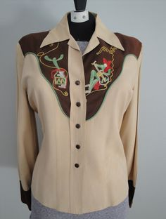 1940s embroidered womens' western shirt. (don't know where this image originally came from, but I love the embroidery!)