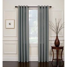Arlee Home Fashions Hopsack Tweed Grommet Top Panel Pair - Curtain Panels at Hayneedle